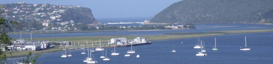 Knysna Estuary, the Heads and Indian Ocean. View from Westhill, the home of N2RS.